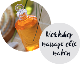 Workshop massage olie maken - CHI